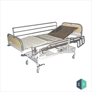 ICU Bed with SS Laminated Panel & SS Side Rail Supplier