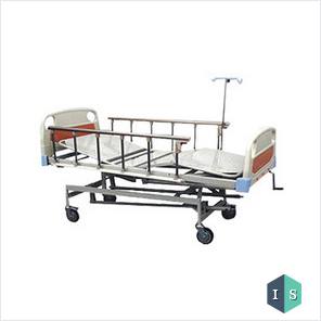 ICU Bed Mechanical with ABS Panel and Safety Rails