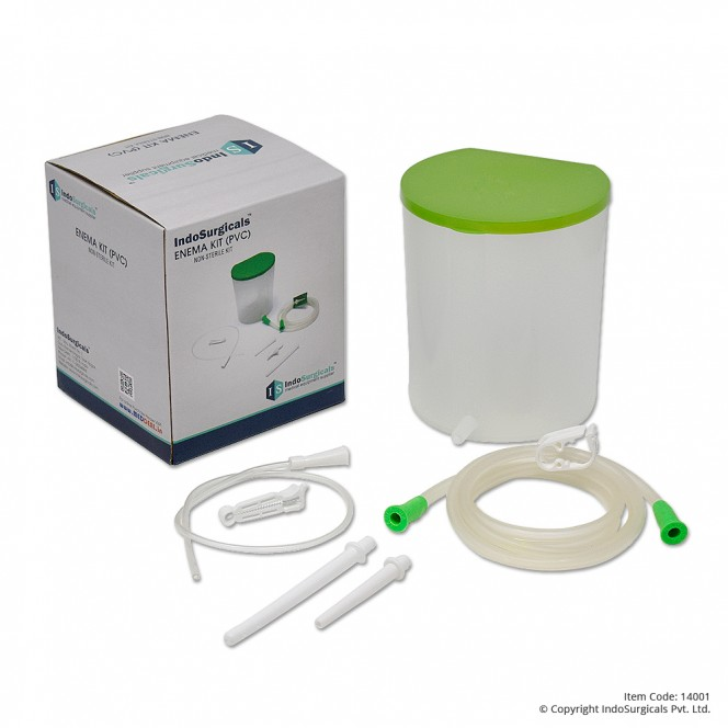 Enema Kit (PVC) Non-Sterile 1500 ml Manufacturer, Supplier & Exporter