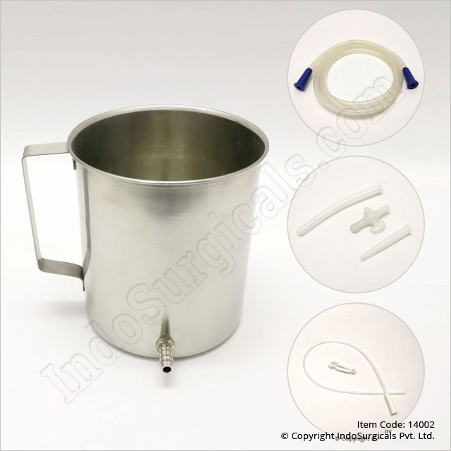 Stainless Steel Enema Kit (Tapped Nozzle)