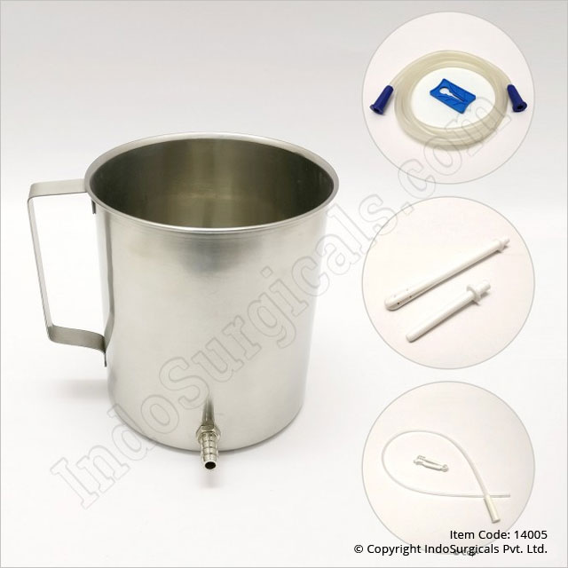 Stainless Steel Enema Kit (Straight Nozzle)