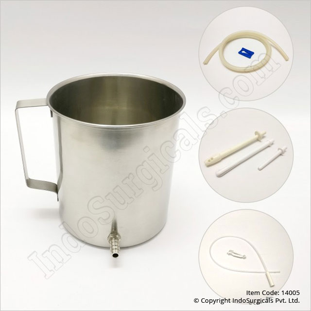 Stainless Steel Enema Kit with Silicone Nozzle