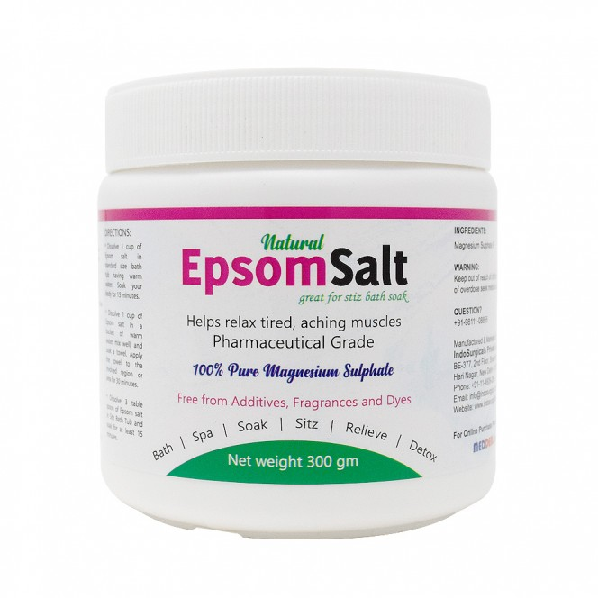Natural Epsom Salt Great for Sitz Bath Soak 300 gm Manufacturer, Supplier & Exporter