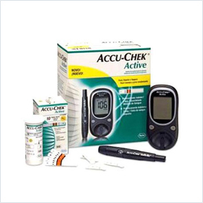 Accu-chek Active Glucometer Monitor With 10 Test Strips
