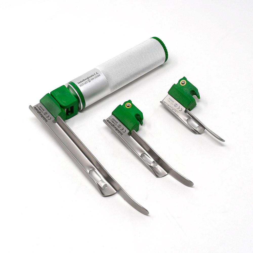 Disposable Fiber Optic LED Laryngoscope Set Miller