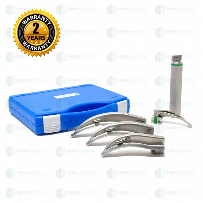 Fiber Optic LED Laryngoscope Set Macintosh