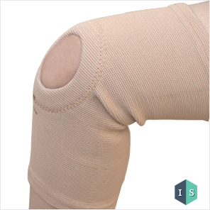 Tubular Knee Support with Center Hole