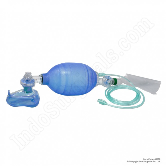 Blue Silicone Resuscitator (Adult) Autoclavable Manufacturer, Supplier & Exporter