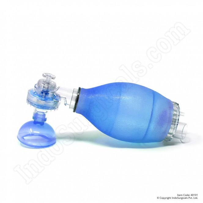 Blue Silicone Resuscitator (Child) Autoclavable