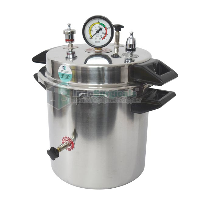 Autoclave 10 Litre (Pressure Cooker Type) Stainless Steel Body