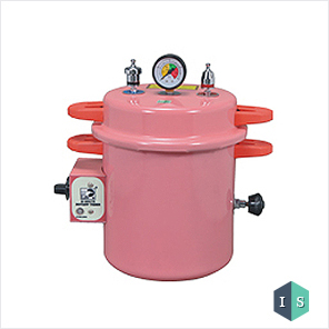 Dental Autoclave, Epoxy Finish, Pressure cooker type, Electric, 10 Liters (Pink)