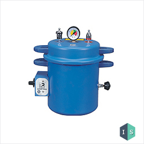 Dental Autoclave, Epoxy Finish, Pressure cooker type, Electric, 10 Liters (Dark Blue)