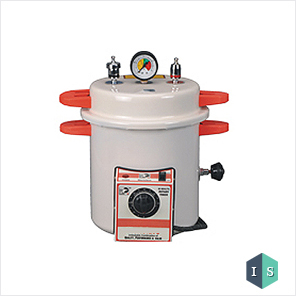 Dental Autoclave, Epoxy Finish, Pressure cooker type, Electric, 10 Liters (Cream) Manufacturer, Supplier & Exporter