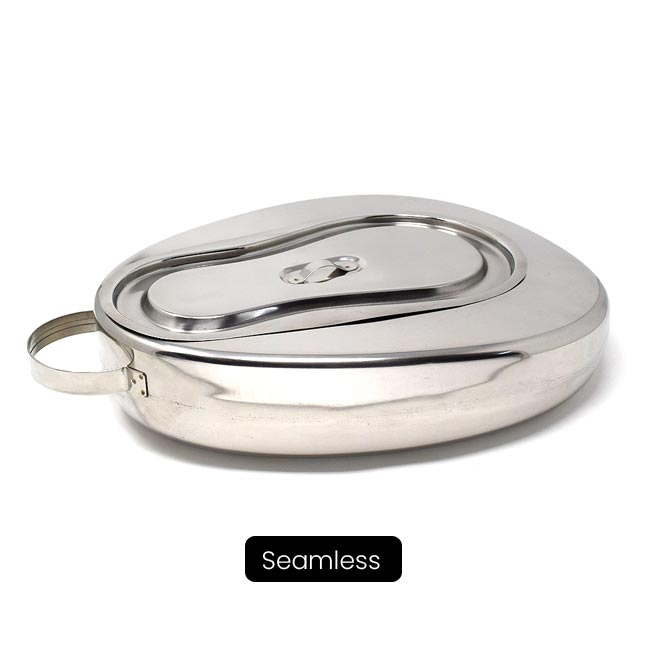 Bed Pan with Lid, Female (Perfection type) Manufacturer