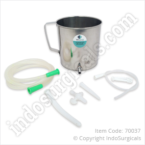 Douche Can with Tube & Fitting Set