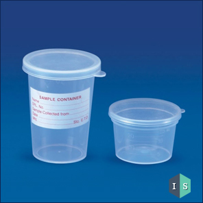 Sample Container (Press & Fit Type), Polypropylene (PP)