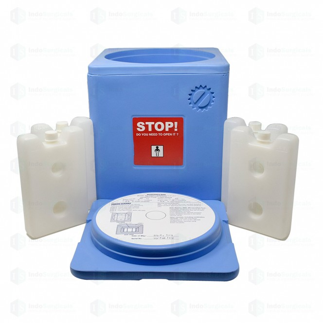 Large Vaccine Carrier Box with 4 Ice Packs (2.5 Litre)